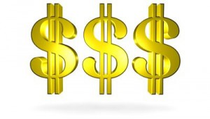 Picture of dollar signs signaling high cost