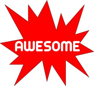 PICTURE OF WORD AWESOME