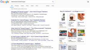 Picture of Google Search Results for Treatment of Toenail Fungus