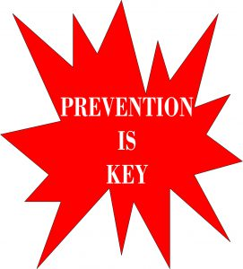 PICTURE OF WORDS PREVENTION IS KEY