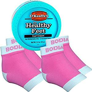 Picture of Foot Cream with Gel Heel Sleeves in Pink for Unique Gifts
