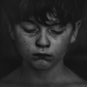 Heel Pain in Kids with Boy Crying